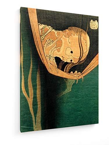 Hokusai - Kohada Koheiji - 50x70 cm - Textil-Leinwandbild auf Keilrahmen - Wand-Bild - Kunst, Gemälde, Foto, Bild auf Leinwand - Alte Meister/Museum