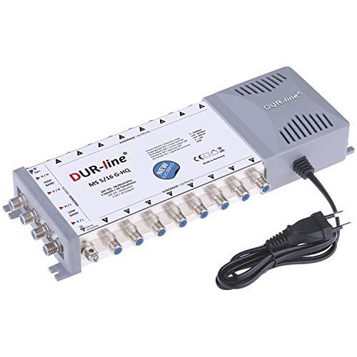 DUR-line MS 5/16 G-HQ Multischalter - SAT für 16 Teilnehmer/TV - mit stromspar Netzteil - Made in Germany - Multiswitch [Digital, HDTV, FullHD, 4K, UHD]