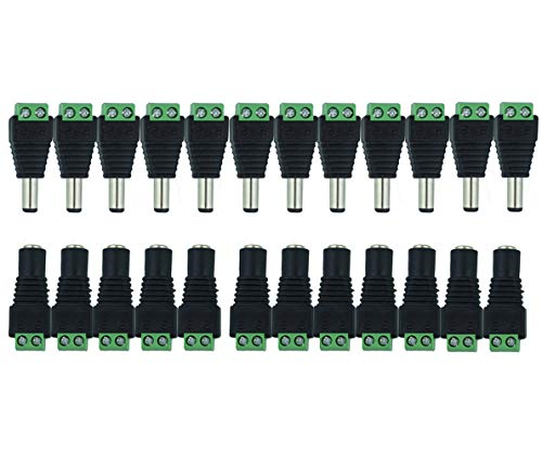 MZMing [12 Pair] Male Female DC Power Connector 12V