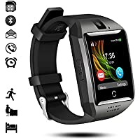 Bluetooth Smart Watch, IDEALBY Android IOS Smartwatch Curved-Screen Orologio per uomo, con fotocamera, SIM Slot per scheda TF, pedometro, monitor del sonno per iPhone,Samsung,Huawei,Sony,LG,Google(Nero)