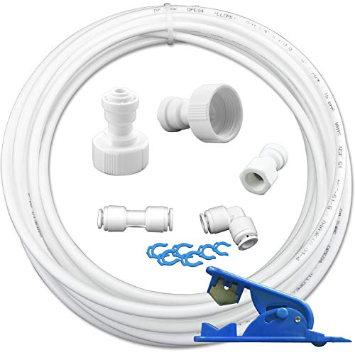 10m Wasserzulaufleitung Anschluss-Set für Kühlschrank Wasserfilter Schlauch 1/4