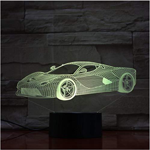 Cool Car 3D Lámpara Usb Night Light Led Iluminación Luminaria Mesa Niños Cumpleaños Regalos De Navidad Decorativos Para El Hogar