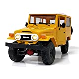 Faironly WPL C34KM 1/16 Metall Edition Kit 4WD 2,4G Buggy Crawler Off Road RC Auto 2CH Fahrzeugmodelle Mit Scheinwerfer Yellow 1:16