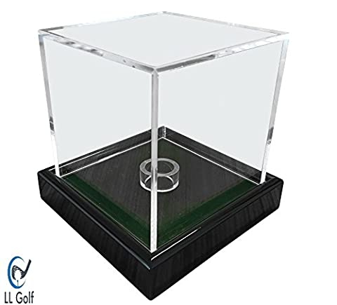 Universal acrylic showcase / display case in 10x10x10 cm with green velvet for a figure, modell, golfball,baseball, tennis ball