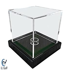 LL-Golf Universal acrylic showcase/display case in 10x10x10 cm with green velvet for a figure, modell, golfball, baseball, tennis ball