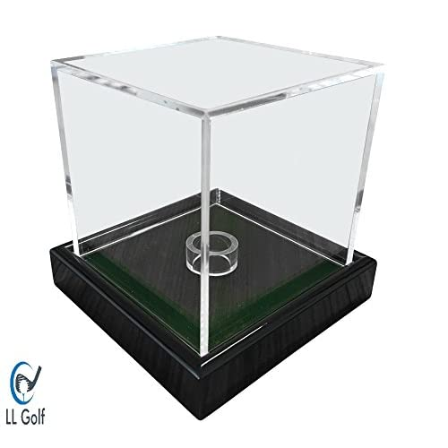 LL-Golf Universal acrylic showcase/display case in 10x10x10 cm with green velvet for a figure, modell, golfball…