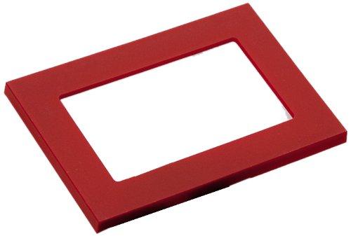 Studio Italia Design - Luce da incasso a parete con cover aggiuntiva, colore: Rosso