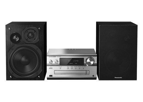 Panasonic SC-PMX84EG-S Micro HiFi System (120W RMS, Bluetooth, Radio, DAB+, USB, Stereo Cinch) silber