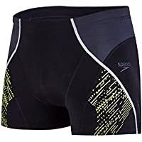 Speedo Fit Panel Bañador, Hombre, Negro (Black/Oxid Grey/Lime Punch), 30
