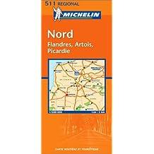 Carte routière : Nord, Flandres, Artois, Picardie, N° 11511