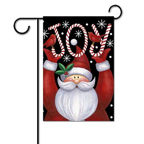 (Fhdang Decor Joy Santa Weihnachts-Flagge, Weihnachtsdekoration, 30 x 46 cm)