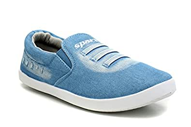 Sparx Men SM-311 Sky Blue White Loafers -6UK