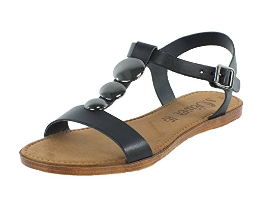 S. Oliver Shoes Da.-Sandalette Größe 39 Schwarz (BLACK)