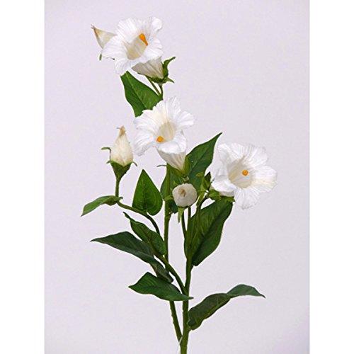 artplants Set 3 x Künstliche Glockenblume – Campanula, weiß, 50 cm – 3 Stück – Kunstblumen/Seidenblumen