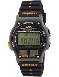 Timex Timex Ironman Traditional 8 Lap T5H941 - Reloj digital de cuarzo para hombre, correa de plástico color negro