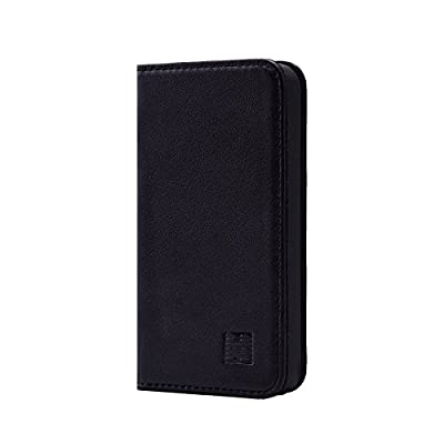 32nd Classic Series - Real Leather Book Wallet Flip Case Cover For Apple iPhone 4 & 4S, Real Leather Design With Card Slot, Magnetic Closure and Built In Stand by 32ndShop