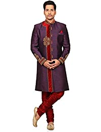 A.B.C. Garments Multicolor Silk Brijesh Sherwani For Men