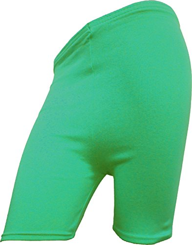 RD Fashion ® de cyclisme en coton pour femme Motif Dancing-Short stretch-dessus du genou Active Short Short de Sport/legging Multicolore - Vert