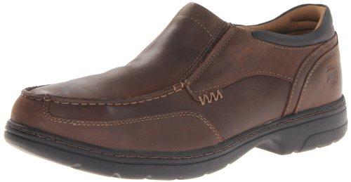 Timberland PRO Men's Branston Moc Toe Slip-On Work Shoe,Brown Distressed,10 W US