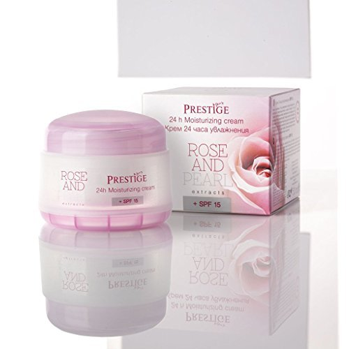 Marque Rose & Perle - Crème hydratante 24 heures SPF 15 «Rose & Perle» 50 ml
