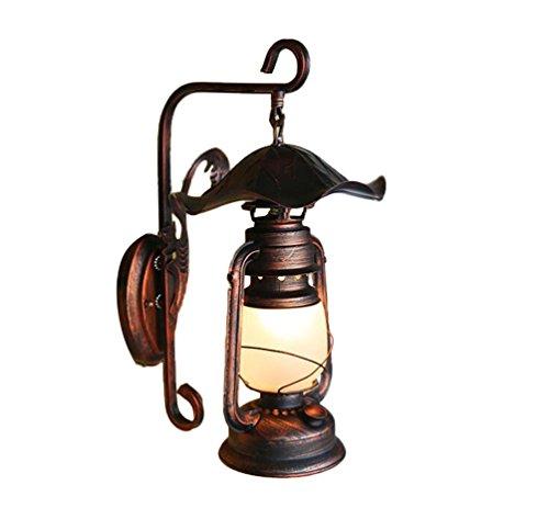 AJZGFApplique Applique murale nostalgique vintage, lampe de cheval antique lampe kérosène vintage lampe de mur décorative couloir de jardin Applique murale