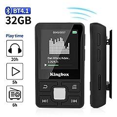 Idea Regalo - Lettore MP3 Bluetooth 32GB,MP3 player per Sport,Lossless HiFi Musicale con Radio FM Contapassi Registrazione Video E-book,Supporto Fino a 128GB