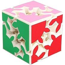 HJXDtech - KSZ clásico cubo de 2x2x2 de engranajes la velocidad pegatina cubo mágico irregulares (blanco)