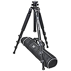 Camera Tripod Alu & Titanium (Height: 150 cm, Weight: 1.4 kg, Load capacity: 7 kg) Black Tripod Triopo C-258 With Water Scale and Travel Bag