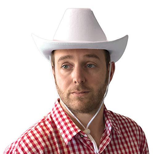 PARTY DISCOUNT Hut Cowboy Classic Color aus Filz, weiß (Weißer Filz Cowboy Hut Kostüm)