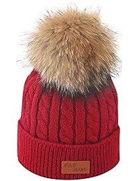 Topgrowth Cappello Cappellini Neonato Invernale di Lana Lavorato Bambino  Cappelli Bambina Carina Berretto A Maglia con fa36ac043dcf