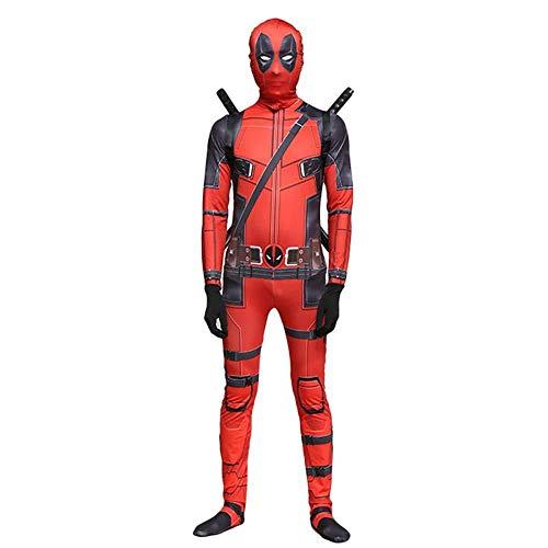 Deadpool 2 Cosplay Anzug, Kostüm, Erwachsene Kinder Halloween Kleidung Spandex Lycra Set, Für - Deadpool Kostüm Elasthan