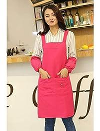 Hermoso delantal Delantal Cocina de calidad profesional Estilo a prueba de agua Moda coreana Café de cocina Puños Cocineros Bistro Carniceros…