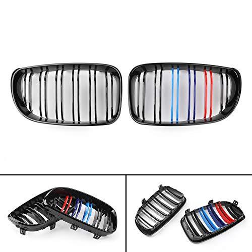 Areyourshop paio nero lucido m-colore griglia anteriore griglia per E81E87E881Series 07–2012