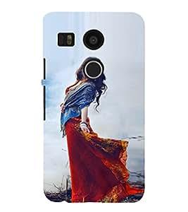 EPICCASE Traditional Look Girl Mobile Back Case Cover For LG Google Nexus 5X (Designer Case)