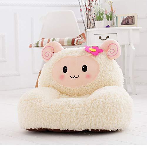 WAYERTY Kindersofa, Kindersessel Schafe Plüsch Mini-Sessel Perfekt Entwickelt Für Ihr Kind Zimmer oder kinderzimmer-Weiß W54xH45cm(21x18inch)