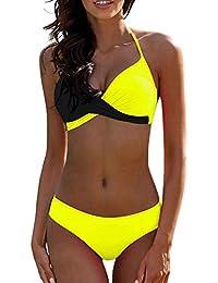 706a79e58f1 ZAFUAZ Women Push Up Bikini Set Plus Size Padded Swimming Costume Halter  Swimwear