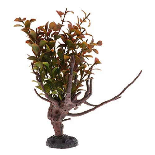 perfk Künstliche Pflanzen Kunstpflanzen Terrarium Dekoration Für Reptilien, Eidechsen, Chamäleons, Geckos, Schildkröten, Schlangen - Typ 2