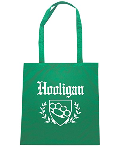 T-Shirtshock - Borsa Shopping OLDENG00835 hooligan knuckle crest Verde