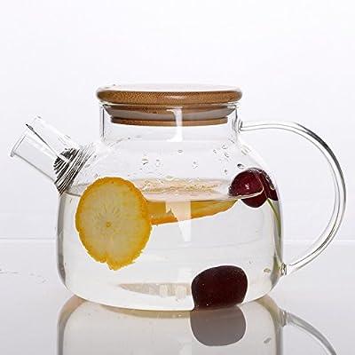 Umami Original Théière En Verre 850 ml - Carafe A Eau Ou A Orangeade | Passe Au Lave-vaisselle | Durable, Sain & Design