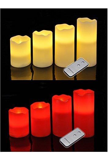 Preisvergleich Produktbild Wunderschönes LED Kerzenset in rot oder weiß (Rot)
