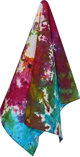 Harrys-Collection Bandana Bindetuch 100% Baumwolle (1 er 6 er oder 12 er Pack), Farbe:Batik gemustert