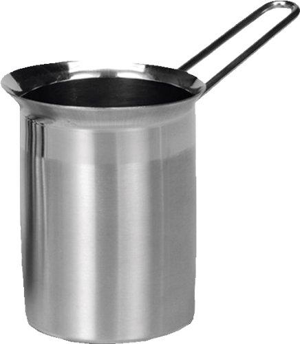 Karl Kruger schiumalatte con manico in metallo, argento