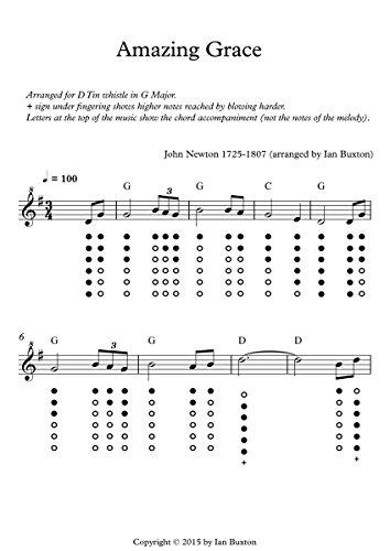 Amazing Grace for Tin Whistle with Chords eBook: Ian Buxton: Amazon ...
