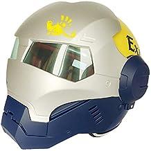 XYL Casco para Motocicleta Careta Completa Iron Man Certificado de D.O.T Motocross Personalidad Casco con máscara
