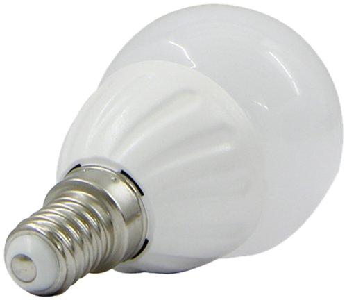 Jamara 701512 LED Birne Tropfenform E14 3W warmweiß, 3 W, Weiß, 1-er Pack