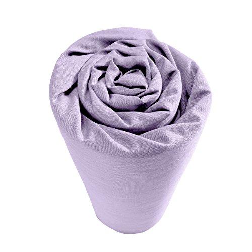 Drap housse pour lit articulé 100% percale de coton Uni 2 x 80 x 200 cm Violet