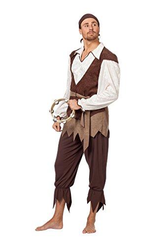 Karneval-Klamotten' Kostüm Zigeuner Pirat Herr Karneval Seeräuber Herrenkostüm 50