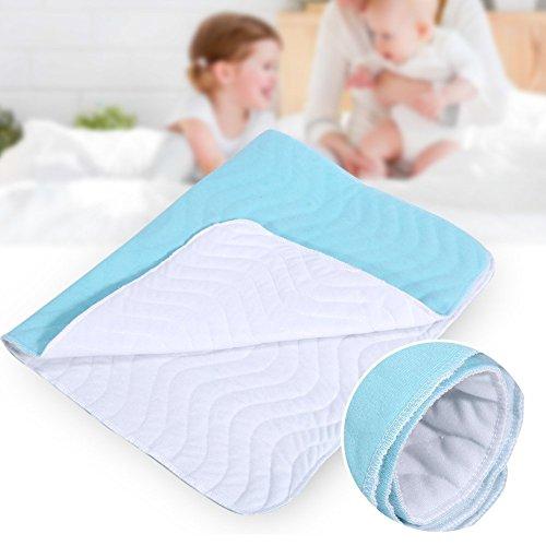 Colchón cambiador impermeable,reutilizable lavable protección la humedad absorbente de la almohadilla enfermo...