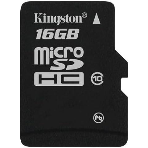 Kingston SDC10/16GBSP - Tarjeta microSD de 16 GB (clase 10, UHS-I), negro