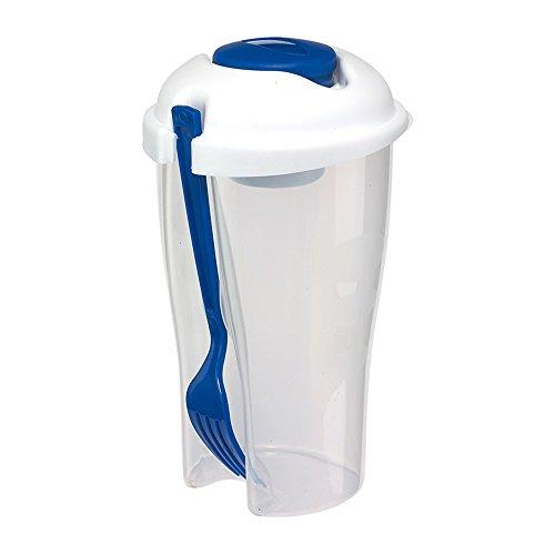 Dressing Halter (Salatbecher to go Dressingbehälter Obstbecher 850ml mit Gabel für Aufbewahrungsbox Spülmaschine und Microwelle geeignet)
